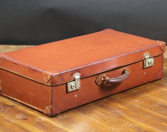 R2087 suitcase leather with its key