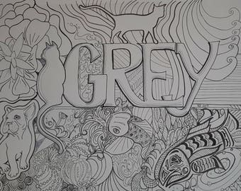 Grey Coloring Sheet