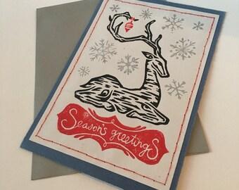 Kneeling Deer Greeting Card