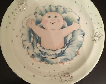 Vintage 1984 Cabbage Patch Kids Porcelain Dinner Plate England
