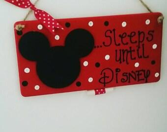 Disney countdown plaque