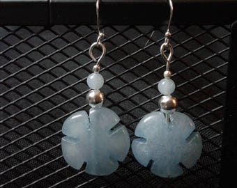 Earrings in aquamarine and 925 Silver - balance and creativity