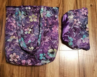 Quilted Handbag & Cosmetic Bag