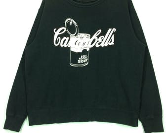 Andy warhol sweatshirt pull over jumper crew neck black colour large size