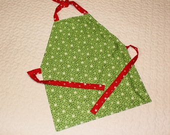 SALE!! Toddler and Child/Kid apron- Green Christmas Apron