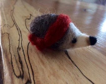 Handmade Woodland Needle Felted Hedgehog