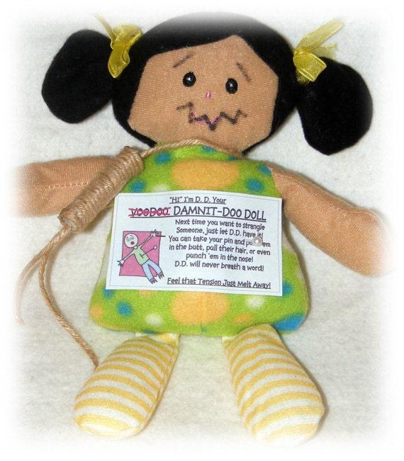 FUN GAG GIFT . . .  Damnit Doll , Fun Gift Anytime
