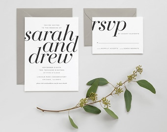 Bold Serif Invitation Suite