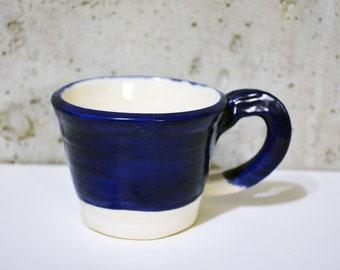 Blue Mug, Ceramic Mug, Handmade Mug, Pottery mug, Coffee Mug, Tea Mug, Green Mug, Curvy Mug, porcelaine Mug, Coffee Cup, Unique Mug