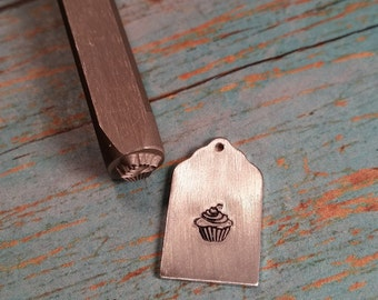 Cupcake Design Stamp, Cake, Treat Metal Decorative Stamped Tools & Supplies, w/ Alphabet Punch Sets, Metalworking, DIY Jewelry