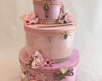 Pure Elegance – Pink Satin Wedding Card Box