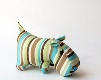 "Toy ""striped Hippopotamus"" - stuffed animal"