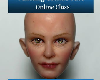 "Online Class ""Painting a Realistic Face"" for Polymer OOAK Art Dolls"