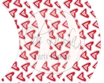 Printable Valentine's Day Heart Standard Size Cupcake Wrappers (INSTANT DOWNLOAD)