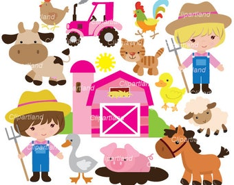 INSTANT Download. Farm clip art. Cf_54.  (12-14 inchs) Personal and commercial use.