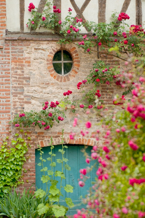 French Country Photography Blue Door Romantic Home Decor