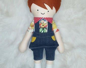 Freddy - handmade retro boy doll -SALE