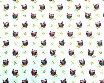 Who's Hoot, Michael Miller, 100% Cotton Quilting Fabric Apparel, Fabric by the Yard