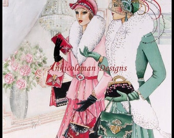 Counted Cross Stitch Patterns Needlework for embroidery - Art Deco Lady 3