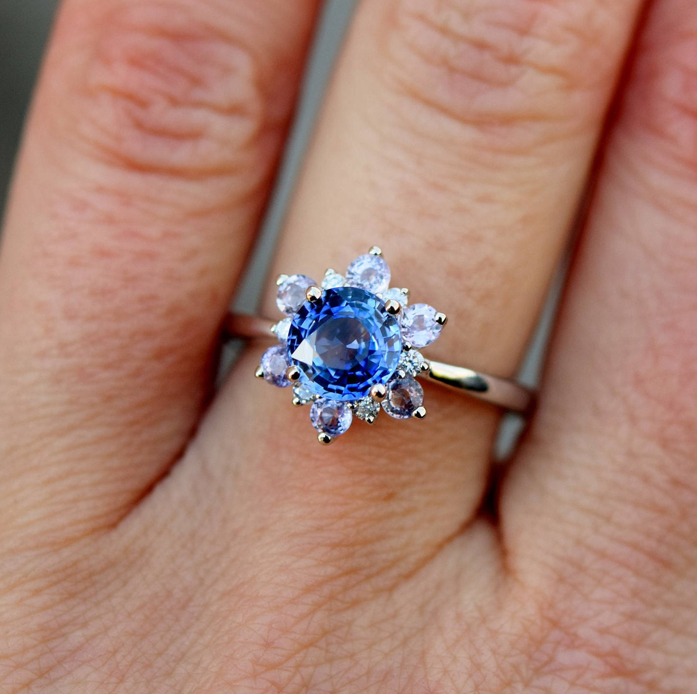 sapphire white bishop diamond saffire ring and gold half rings eternity winsor