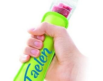 Coloured neoprene freezie holders, Freezie Holder, yogurt tube holders, Popsicle holders, freezie, Popsicle, freeze pop, kids gift, holder