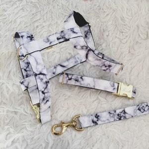 "Adjustable dog harness ""Marble"""