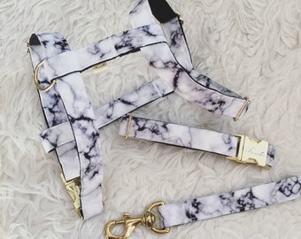 "Adjustable dog harness ""Marble"""