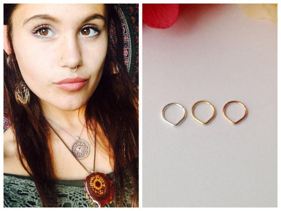 Triangle Septum Ring Rose Gold Septum Ring