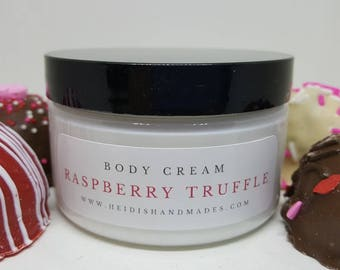 Raspberry Truffle Body Cream - Raspberry Truffle Lotion - For Chocolate Lovers - Chocolate Gift - Truffle Lovers - Truffle Gift