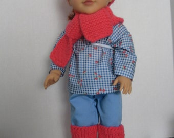 Doll Hat, Scarf and Leg Warmers
