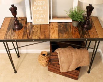 Reclaimed Wood Entry Table, Reclaimed Wood Sofa Table, Reclaimed Wood Console Table