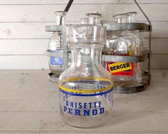 Apéritif Anisette Pernod marque eau Carafe / pichet, Original Vintage Français Bistro boisson, verrerie promotionnel