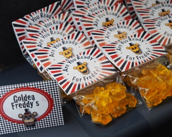 Five Nights at Freddy's Favor Bag / Thank You Labels - Are You Ready For Freddy?