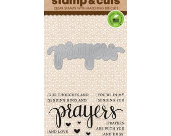 Hero Arts Stamp & Cuts: PRAYERS, clear stamp and die set (DC183) - SD093
