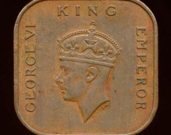 1939 Malaysia One Cent, XF