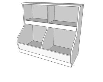 Toy storage bin etsy book shelf with toy storage bin one sheet of plywood pdf file wood malvernweather Choice Image