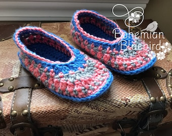 Girls Slippers Crochet Slippers Child's Slipper