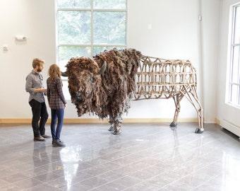 American Bison sculpture life sized original fine art