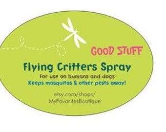 Flying Critters bug spray! Safe & natural for humans and dogs