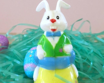 Vintage Easter Bunny Riding an Easter Egg Toy