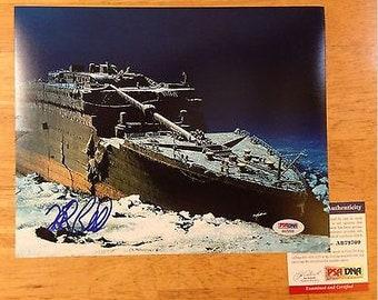 Signed ROBERT BALLARD Titanic Bismarck PT-109 8x10 psa autographed
