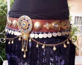 Tribal fusion vegan friendly belt