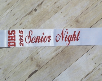 Senior Night Sashes