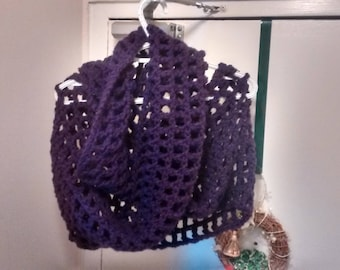 Purple Infinity Cowl, loop scarf, eternity scarf, infinity scarf, ladies scarf