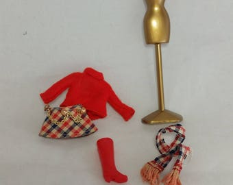 Vintage Dawn doll outfit Mad About Plaid