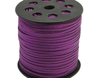 15ft Metallic Purple Faux Suede Cord 3mm (No. 1006)