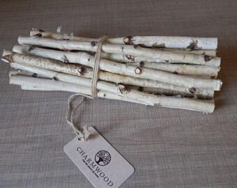 20 white birch sticks. Wood Logs. Wedding birch decor. White craft wood.Birch decor. Craft wood stick.  White birch. Home decor birch