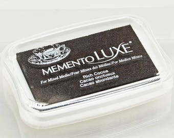 Memento Luxe Stamp Pad -- Rich Cocoa -- Mixed Media Full Size Stamp Pad
