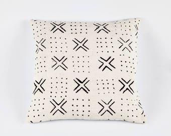 Geometric Mudcloth Pillow