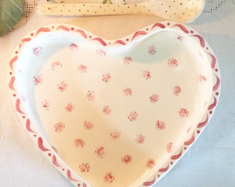 Heart Bowl Small Pink Rose